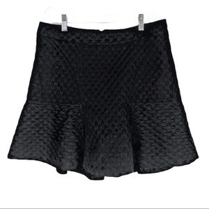 Worthington Black Embossed Skirt